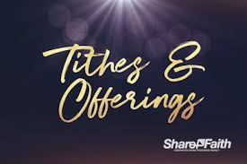Receiving Tithes and Offerings During This Time
